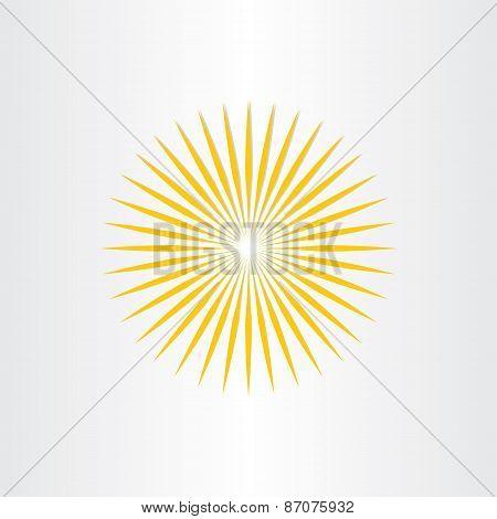 Abstract Sun Sunshine Icon Design