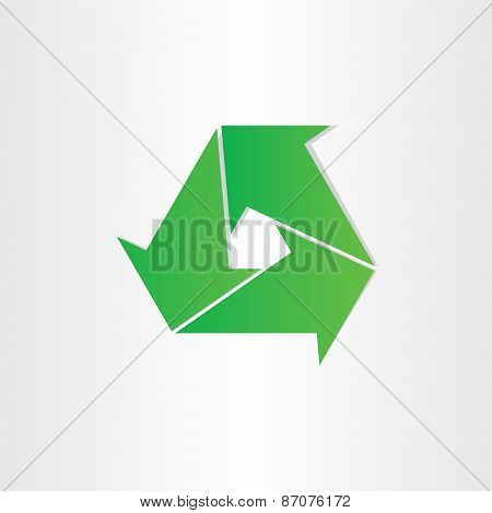 Eco Recycle Symbol Green Arrows