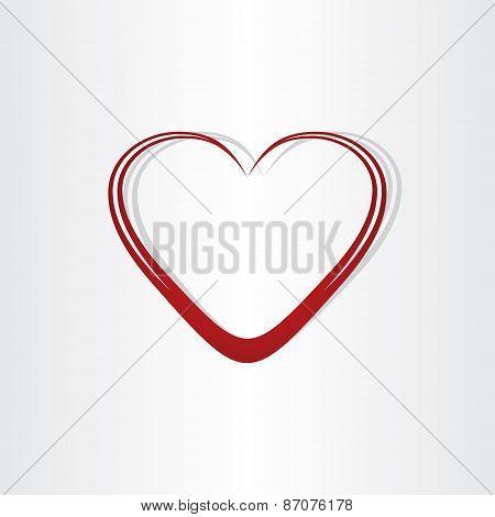 Heart Shape Text Box Frame