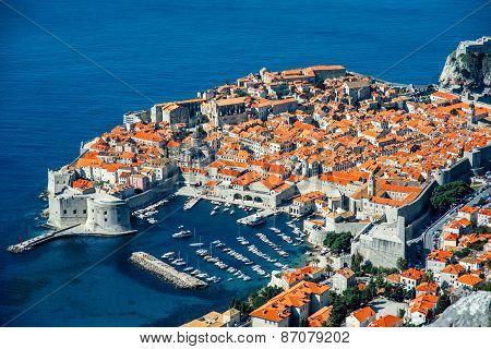 Dubrovnik city top view