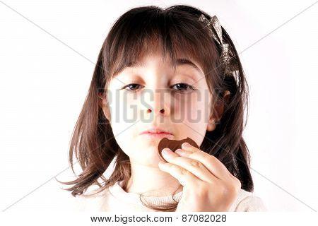 Eating chocolate