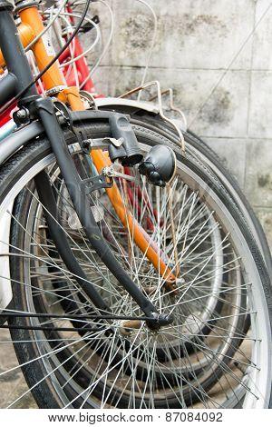 Vintage Stylized Photo Of Old Bicycle