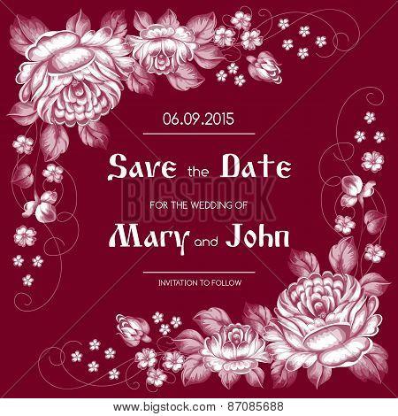Russian Style Wedding Invitation