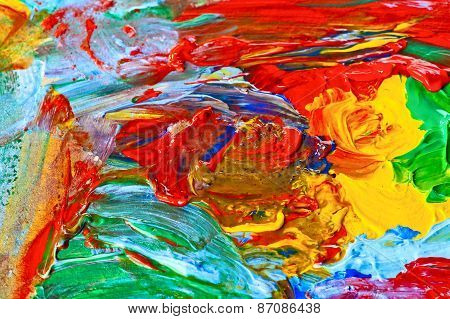 Modern Art, Abstract Painting With Oil Paints