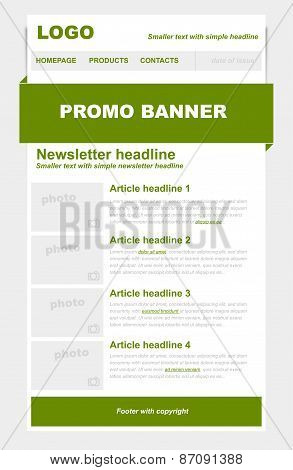 Newsletter Green Template