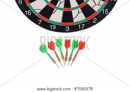 Darts Isolated On White Background