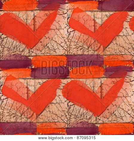 seamless red boomerang texture background wallpaper pattern anci