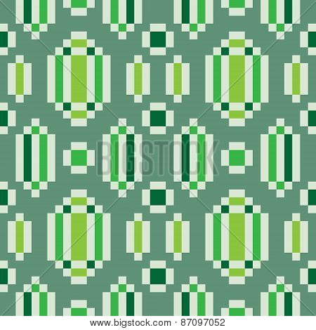 pattern pixel art seamless emerald