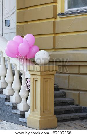 Porch With Balloons