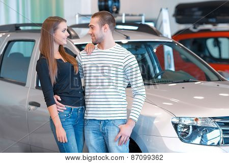Couple in the showroom