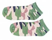 picture of camoflage  - Camouflage military sock isolated on white background - JPG
