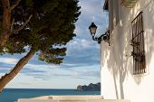 pic of costa blanca  - Traditional whitewashed house with ocean view in Altea Costa Blanca Spain - JPG