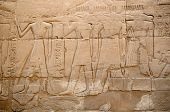 picture of ptolemaic  - Detail of relief  on the wall in the Precinct of Amun - JPG
