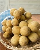 picture of lanzones  - longkong sweet fruit Peeled placed in a bowl - JPG