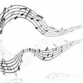 stock photo of clefs  - treble clef musical signs on a white background with reflection - JPG