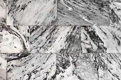 stock photo of slab  - Dark Marble Granite Stone slab surface - JPG