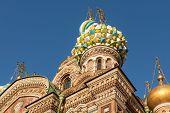 image of sankt-peterburg  - Dome of the Savior on Spilled Blood Sankt - JPG