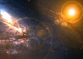 image of incredible  - Incredibly beautiful spiral galaxy somewhere in deep space - JPG