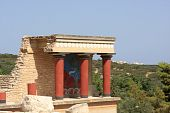 stock photo of minos  - Minoan palace at Knossos - JPG