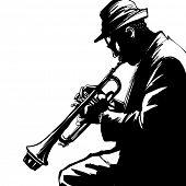 picture of trumpets  - Jazz trumpet player - JPG