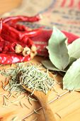 foto of bay leaf  - Dried herb and spice  - JPG