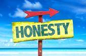 stock photo of honesty  - Honesty sign with beach background - JPG