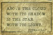 pic of pythagoras  - Above the cloud with its shadow - JPG