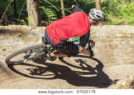 Mountain Bike Rider Gravity Slope