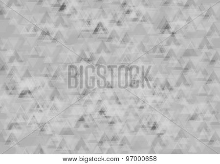 Abstract greyscale tech geometric background with triangles. Vector design