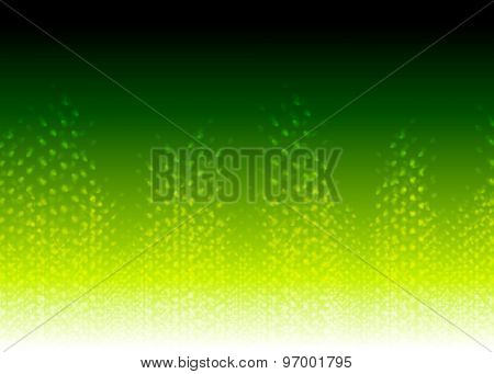 Bright green abstract shiny background. Vector design