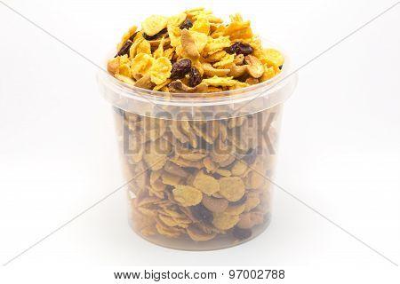 Homemade mixed caramel cornflakes