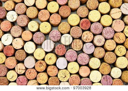 Lots of wine corks, may be used as background