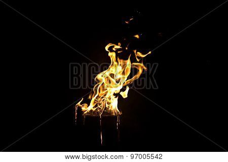 Image of light yellow flame