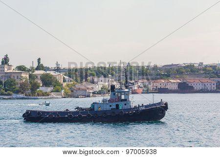 Sevastopol, Ukraine - September 02, 2011: Tugboat In The Harbor Of Sevastopol