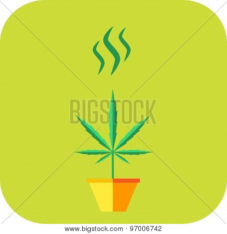 Marijuana odor icon