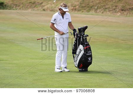 Victor Dubuisson At The Golf French Open 2015