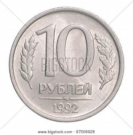 Ten Russian Rubles