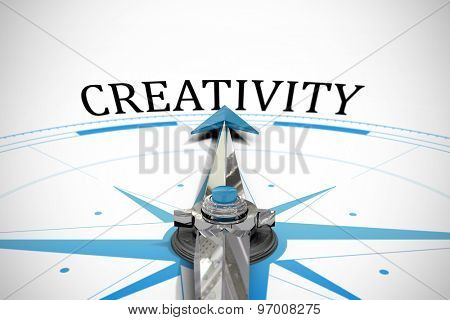 The word creativity against compass