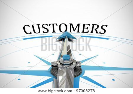 The word customers against compass