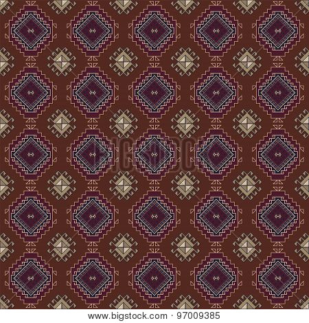 Vector abstract seamless tribal pattern . Ethnic background
