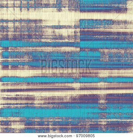 Colorful designed grunge background. With different color patterns: yellow (beige); gray; purple (violet); blue