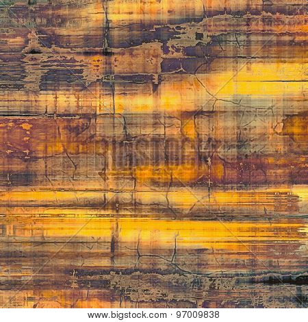 Abstract distressed grunge background. With different color patterns: yellow (beige); brown; gray; purple (violet)