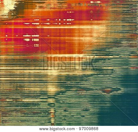 Old, grunge background or ancient texture. With different color patterns: brown; purple (violet); green; red (orange)