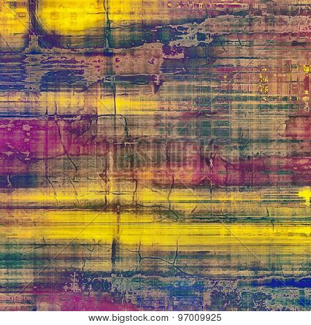 Ancient grunge background texture. With different color patterns: yellow (beige); brown; purple (violet); green