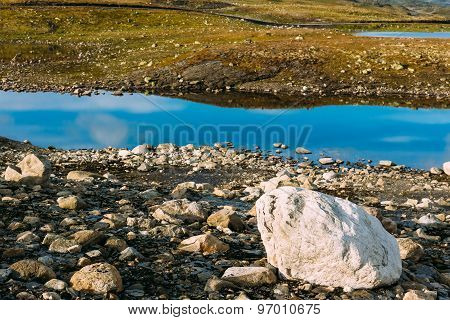 Norway Nature Landscapes, Mountain Under Sunny Blue Sky