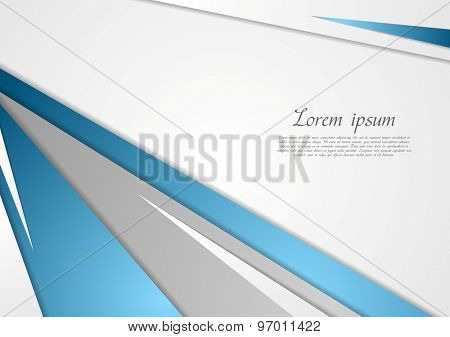 Abstract blue grey corporate background. Vector design