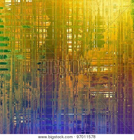 Old ancient texture, may be used as abstract grunge background. With different color patterns: yellow (beige); purple (violet); blue; green