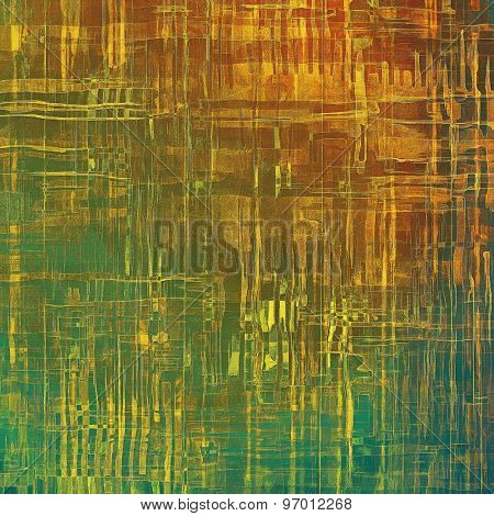Abstract distressed grunge background. With different color patterns: yellow (beige); brown; green; cyan