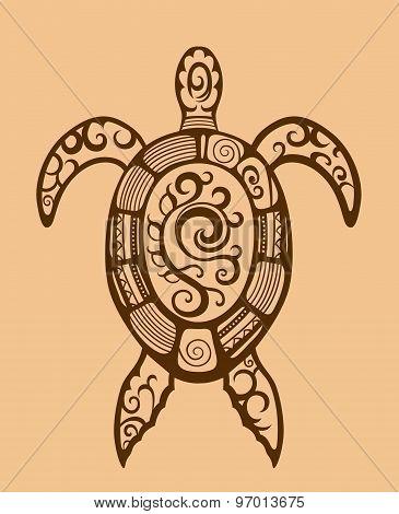 Ethnic Ornamented Turtle