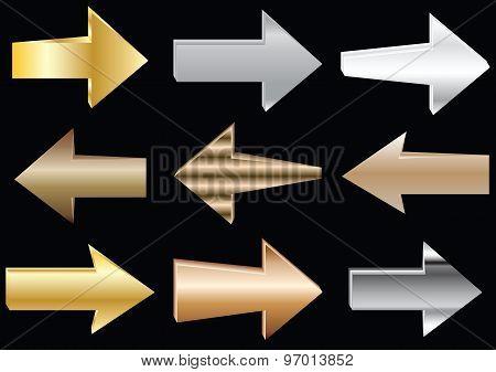 Vector metal arrows